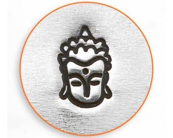 Impressart budha stamp, budha design stamp, Decorative stamp, budha metal stamp, 6mm budha stamp, Impressart stamp, spiritual stamps, budha