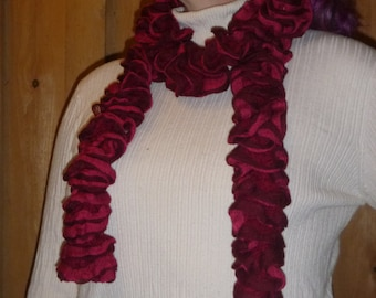 Fashion Scarf, Red, Pink, Ruffled