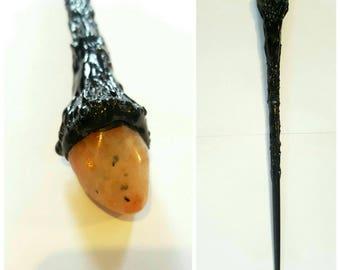 Gemstone wand