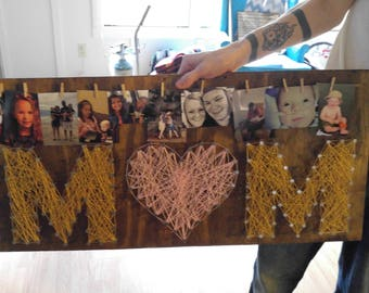 Mom String Art Sign