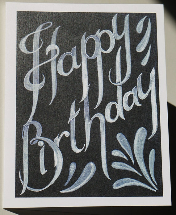Happy birthday card in black and white blank card with bookmarktalkfo Images