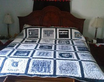 T-shirt quilt from your T-shirts