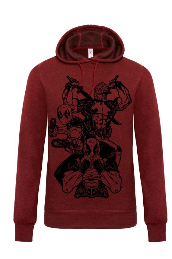 Deadpool jacket merc with a mouth samurai gunslinger marvel college jacket sweatshirt rK45iOM