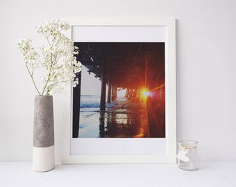 California Print, california photography, santa monica pier, santa monica photograph, sunset photograph, sunset art, los angeles, photgraph