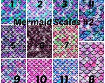 Pattern Vinyl, Mermaid Scales #2, HTV, Printed Vinyl, Adhesive Outdoor Vinyl, Heat Transfer Vinyl, Iron Vinyl, Mermaid Heat Transfeer Vinyl