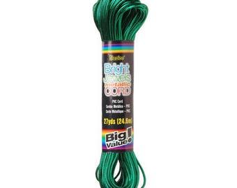 Bright Jewels Metallic Cord - Green - 27 yards-3411-05