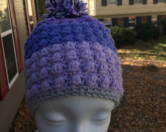 Purple Puff Hat