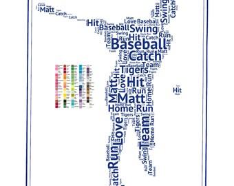 Baseball, PERSONALIZED Baseball Gifts, Baseball Gifts, Baseball Player Gift, Baseball Team Gifts, Gifts 8 x 10 Baseball Print