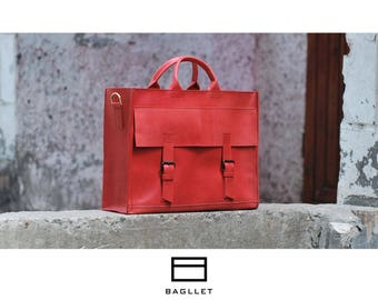Leather Bag B004, Women's Leather Bag, Leather handbag, Leather shoulder bag, Leather Tote Bag, Leather Bags women, Leather Tote Handmade