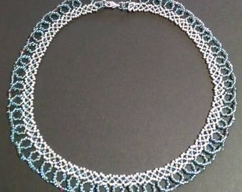 Sparkling Beaded Lace Necklace