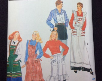 Butterick Misses' And Men's Apron Pattern 4066 One Size
