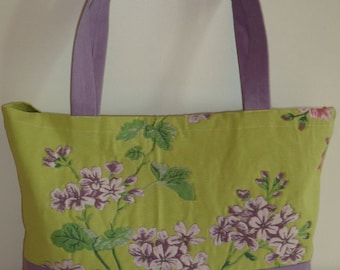Bag of city Julie purple and lime