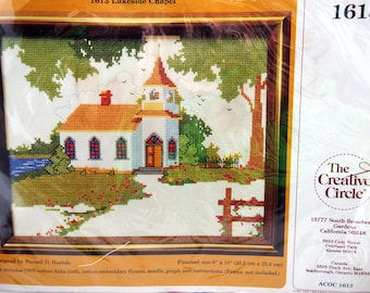 Country Cottage By Russell D. Bushee And Creative Circle Vintage Unopened Cross Stitch Kit 1982
