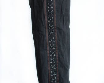 Cotton Trousers with side Lacing