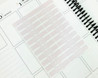 Pink // Bow Headers (Glossy Planner Stickers)