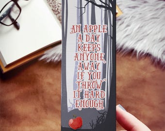An Apple A Day Keeps Anyone Away If You Throw It Hard Enough Bookmark, Introvert Bookmark