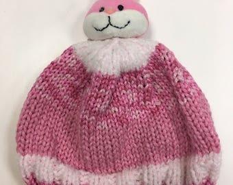 Pink rabbit kids Hat