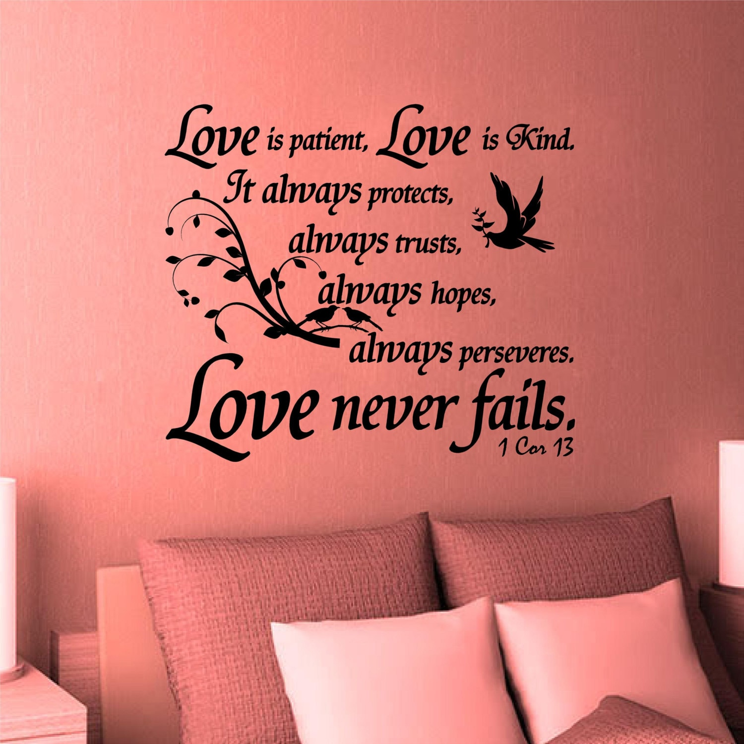 Wall Decal. Bible Scripture. 1 Corinthians 13. Love is