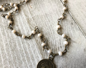 Regal Penny Charm Necklace