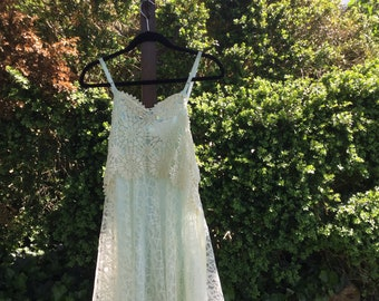 Bohemian Gyspy Lace overlay Dress
