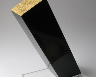 """Abstract sculpture black and gold granite.    """"Auror"""""""