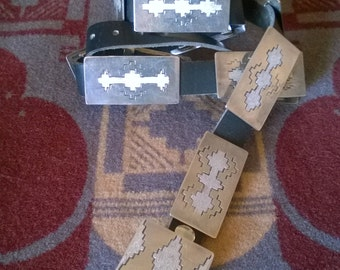 Vintage Sterling Silver Rectangle Concho Belt From The Late 1980's
