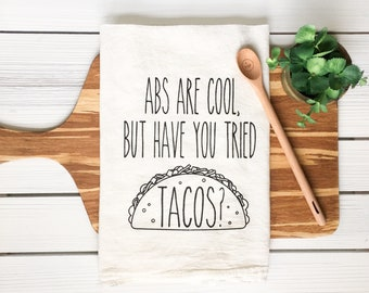 Tea Towel - Taco Tea Towel Taco Towel Kitchen Towel Kitchen Gift Funny Tea Towel Tacos Farmhouse Decor Funny Gift Foodie Gift Gourmet Gift