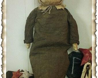 ePattern~Simple Prairie Doll, Full Size