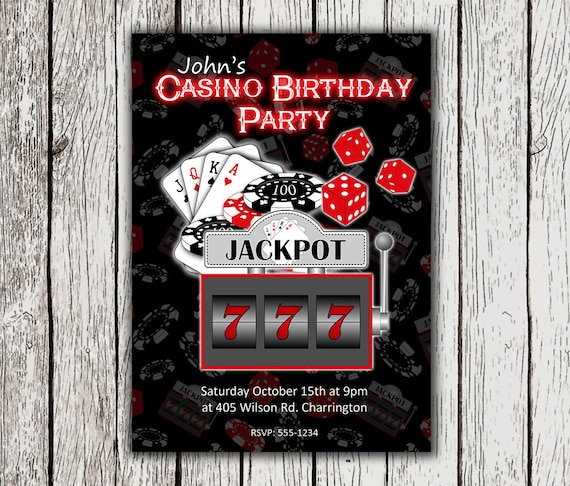 Casino Invitation Casino Theme Invitations Casino Theme