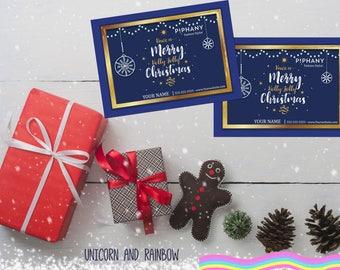 "Piphany Merry Christmas Postcard- Digital file- 5x7"""