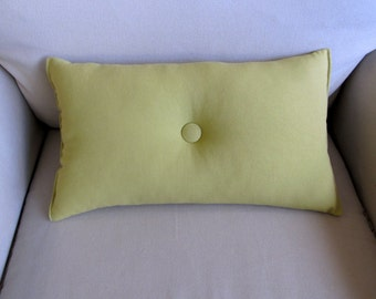 lumbar style 11x19 Granny Smith Green organic cotton pillow available in 10 additional colors