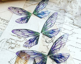 NEW Set of three  purple small faerie wings