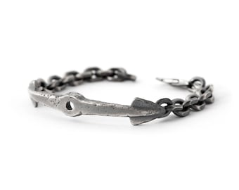Mens Anchor Bracelet - Sterling Silver Bracelet - Silver Anchor Bracelet - Mens Nautical Bracelet - Nautical Jewelry - Chain Link Bracelet
