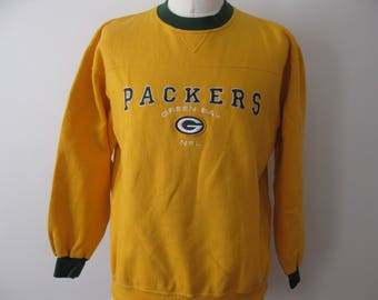 Green Bay Packers Sweatshirt Yellow Adult Large