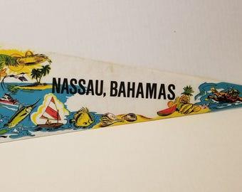 Nassau, Bahamas - Vintage Pennant