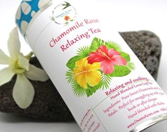 Chamomile Tea, Chamomile Rose - Herbal Tea, Tea, Tisane, Tea in Tin, Gift Tea, Loose Tea, Caffeine Free, Sugar Free, Tisane, Loose Leaf Tea