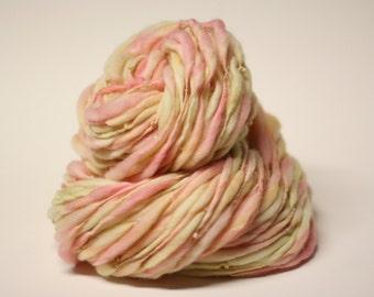 Thick Thin Merino Handspun Wool Yarn tts (tm) Hand Dyed Yarn miniLR 26a