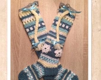 Crochetpattern kids kneesock (frozen themed)