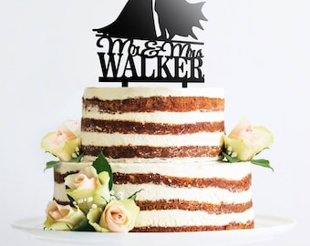 Personalized Wedding Cake Topper Last Name Wedding Cake Topper Customized Mr Mrs Last Name Cake Topper Personalized Cake Topper Bride D#6
