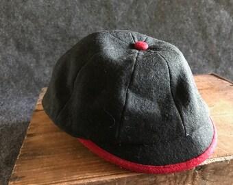 Vintage prep school uniform beanie cap