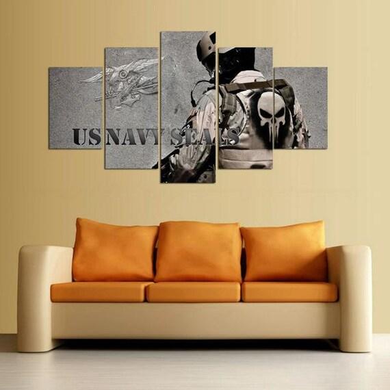 Five Panel U.S. Navy SEALS Print U.S. Navy Walls Art