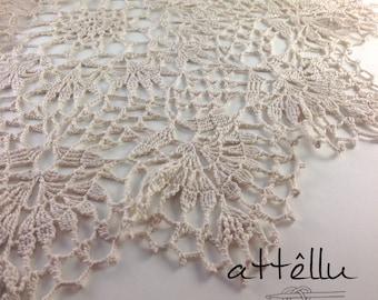 Large Ivory Crochet Doily 100% Cotton