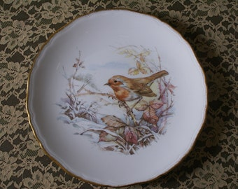 ROYAL VALE BIRD Serving Plate, England, Cake Plate