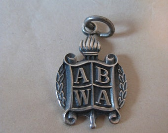 ABWA Sterling Silver Charm Vintage 925