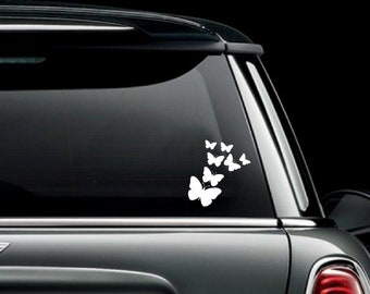 Butterflies Car Truck Van Window or Bumper Sticker Vinyl Decal
