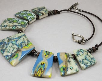 Handcrafted Choker - Turquoise BeadStar Winner Sister Necklace No. 128