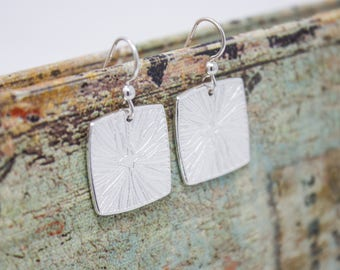 "Fine Silver Earrings ""Starburst"""
