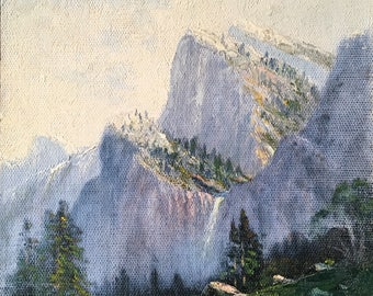 Yosemite National Park Vintage Painting by Norwegian/Californian Artist Christian Skov Dated 1929