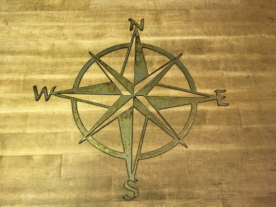 16 to 36 Nautical Star Compass Steel Wall Decor