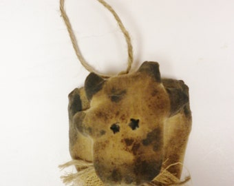 Primitive Cow Ornament - Made To Order, Cow Ornaments, Primitive Animals. Holstein Cows, Farmhouse Decor